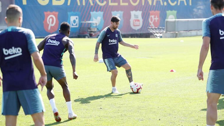 Emoción en el Barça: Entreno con varios jugadores del filial, con Messi y con Umtiti