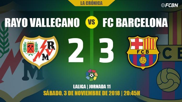 Dos chispazos del Barça evitan que el Rayo repita el desastre de Leganés (2-3)