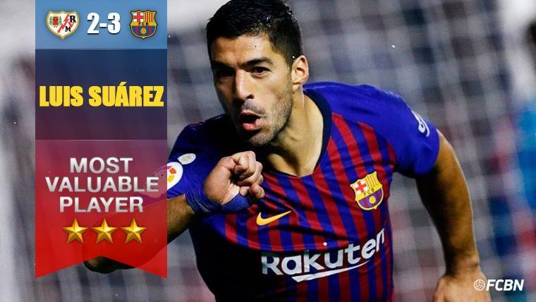Luis Suárez, 'MVP' del Rayo-Barça y 'Pichichi' de LaLiga