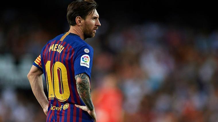 Leo Messi, durante un partido esta temporada con el FC Barcelona