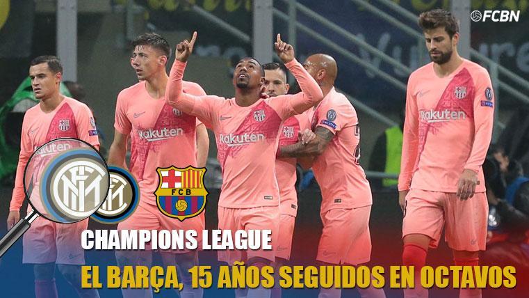 El Barcelona, a octavos de Champions por 15 año consecutivo