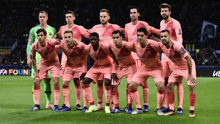 Alineación titular del FC Barcelona contra el Inter de Milán