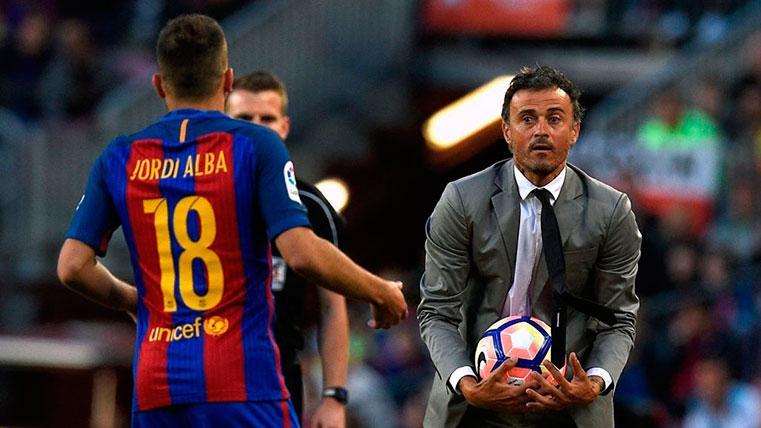 Luis Enrique da pistas sobre sus intenciones con Jordi Alba