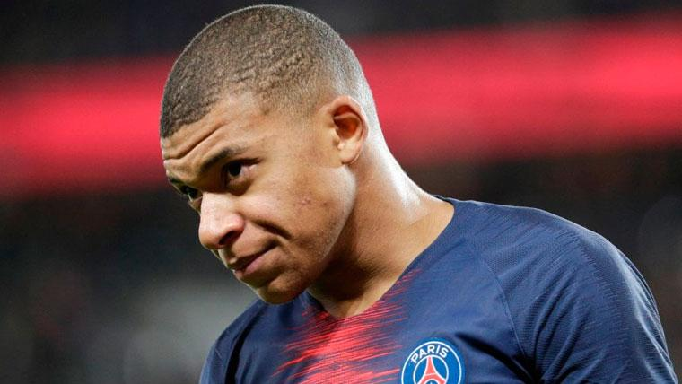Kylian Mbappé en un partido del Paris Saint-Germain