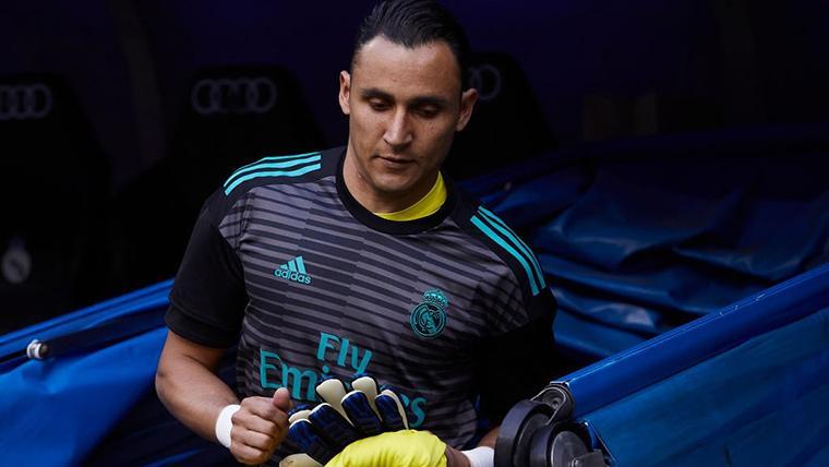 Keylor Navas, en una imagen de archivo con el Real Madrid