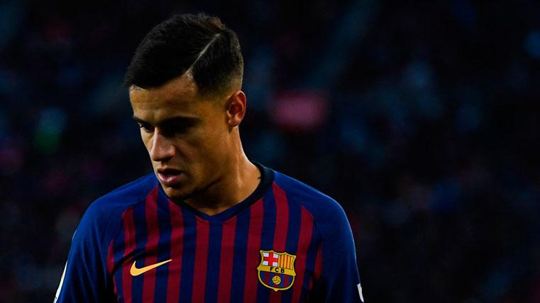 Philippe Coutinho, baja contra el Real Betis