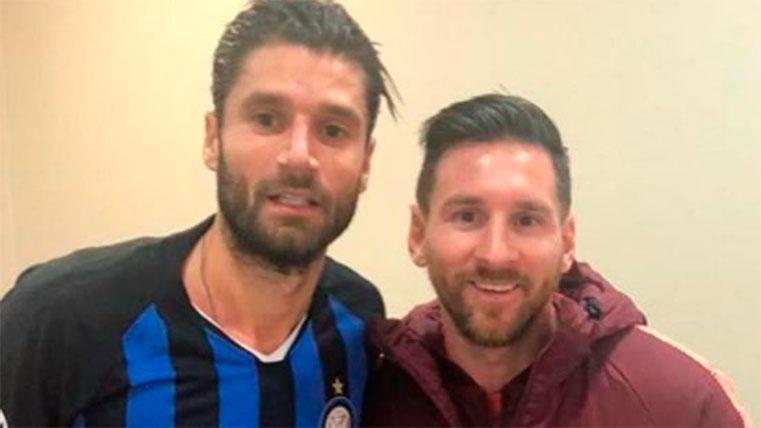 Candreva publicó una foto junto a Leo Messi