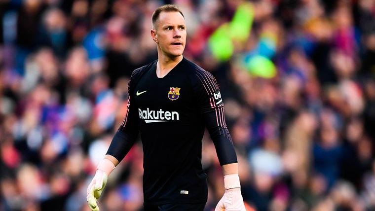 Marc-André Ter Stegen, durante un compromiso con el FC Barcelona