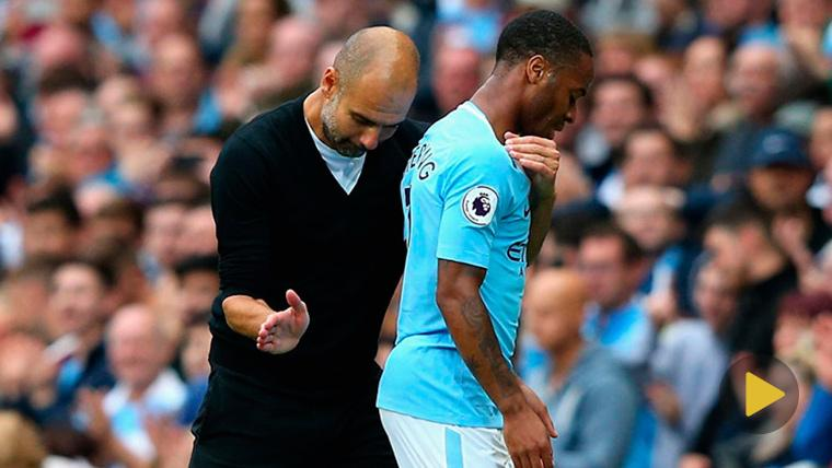 La curiosa bronca de Guardiola a Sterling tras el City-United