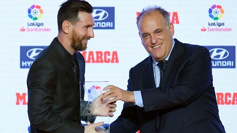 Javier Tebas vuelve a proponer un premio de LaLiga con el nombre de Messi