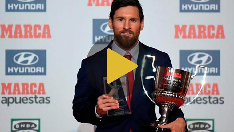 Messi recibe el Trofeo Pichichi 2018 y el Premio Di Stéfano