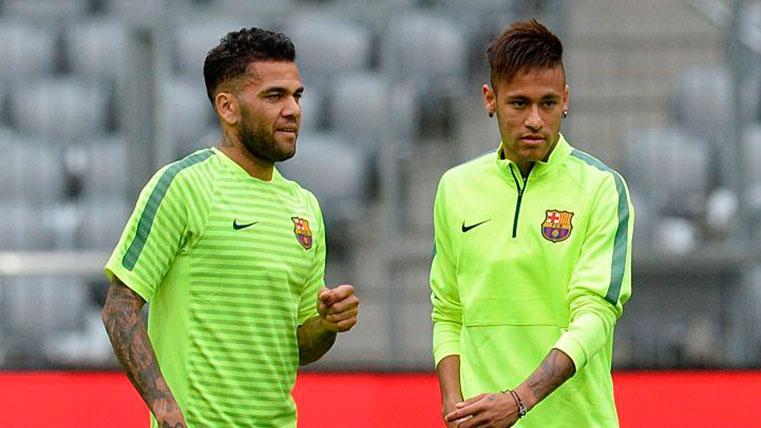 """Dani Alves: """"Neymar sería el mejor si hubiera trabajado con Guardiola"""""""