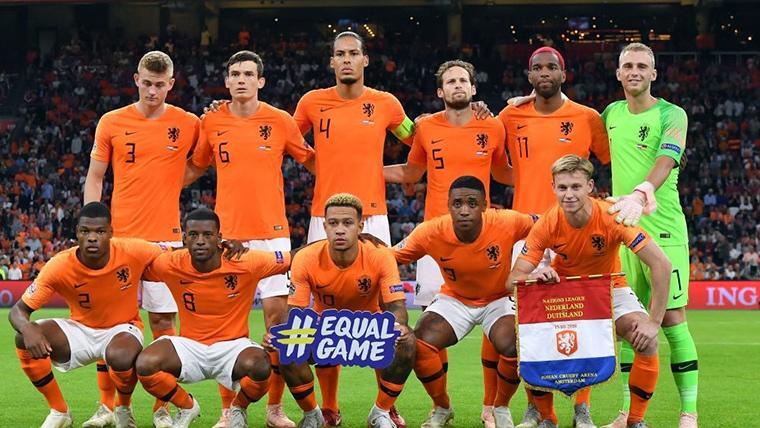Frenkie De Jong y Matthijs De Ligt, en la alineación titular de Holanda