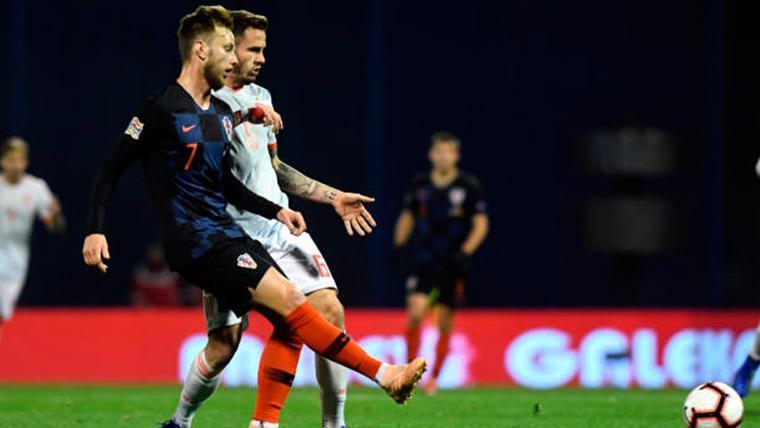 Pleno de jugadores del Barça en un Croacia-España (3-2) de locos