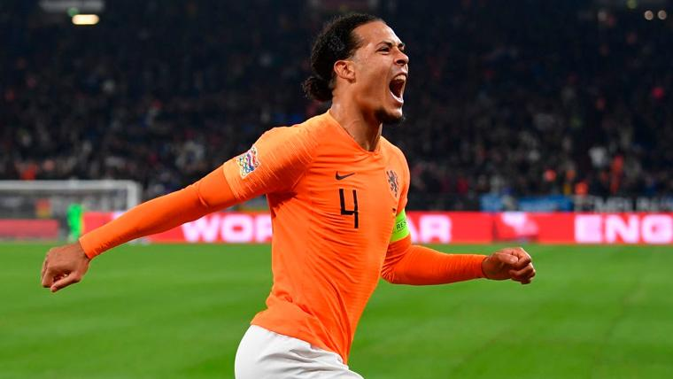 Van Dijk salva a una Holanda que jugará las semifinales de la UEFA Nations League