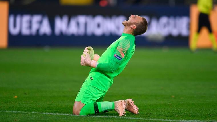 Cillessen, el único jugador del Barça que opta al título de la UEFA Nations League