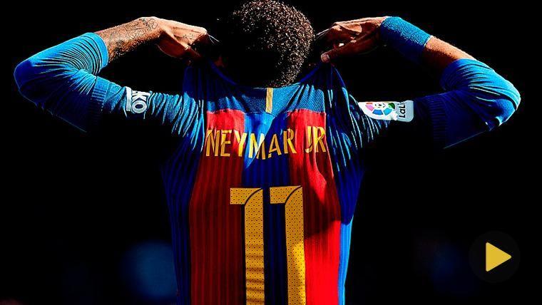 Neymar Jr, en una imagen de archivo con la camiseta del Barcelona
