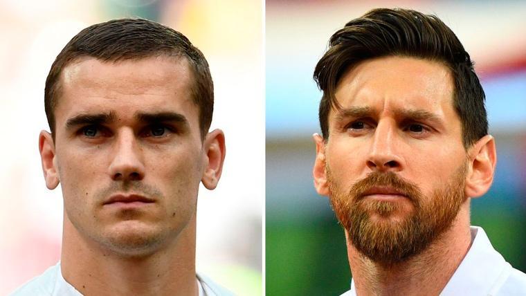 Messi 'golea' a Griezmann en los duelos entre Barça y Atlético