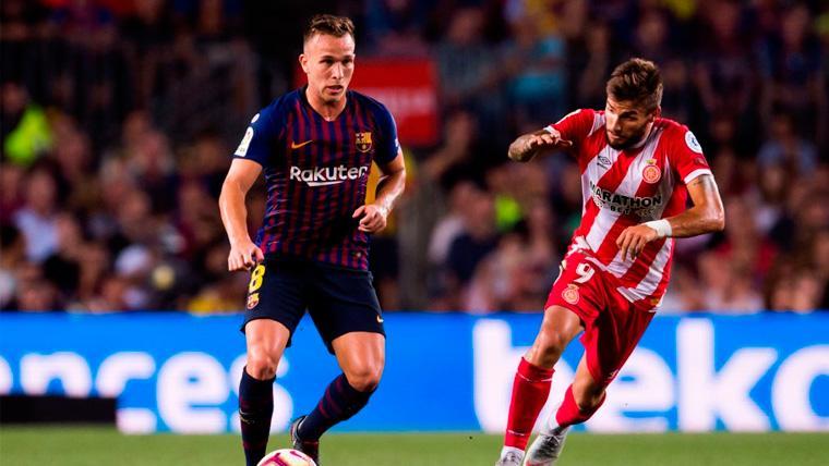 La doble función decisiva de Arthur en el partido contra el Atlético de Madrid