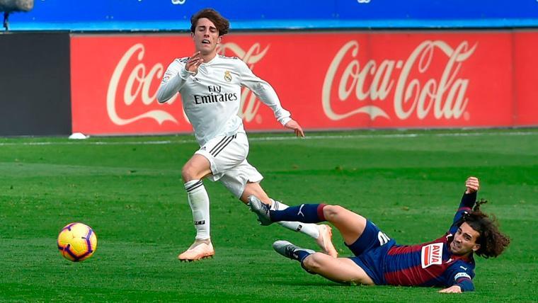 Partidazo del barcelonista Marc Cucurella, que fue decisivo en el Eibar-Real Madrid