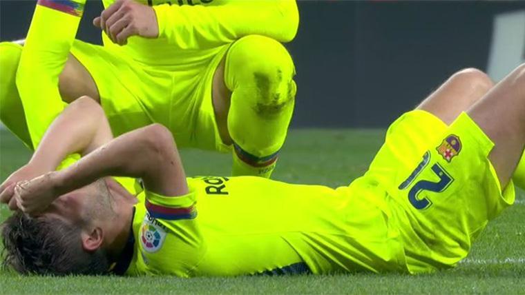 ALARMA: ¡Lesión muscular de Sergi Roberto contra el Atlético!