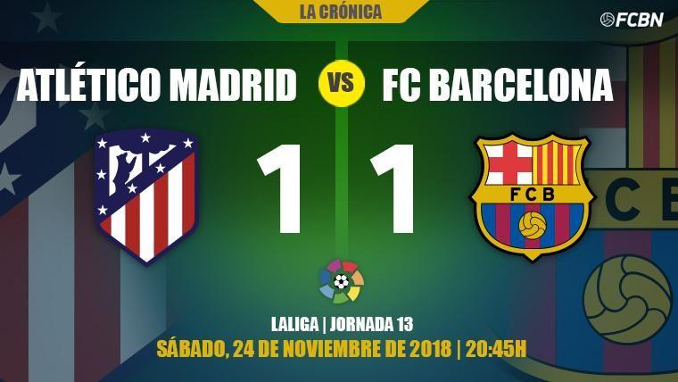 Dembélé se gana el perdón y salva el liderato del Barcelona ante el Atlético de Madrid (1-1)