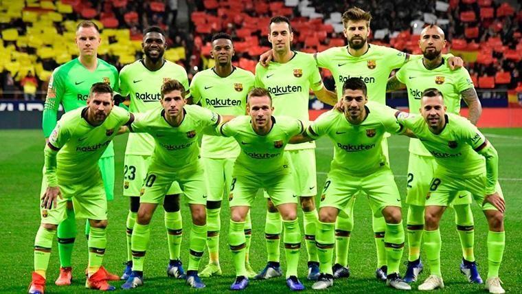 Alineación titular del FC Barcelona contra el Atlético de Madrid en Liga
