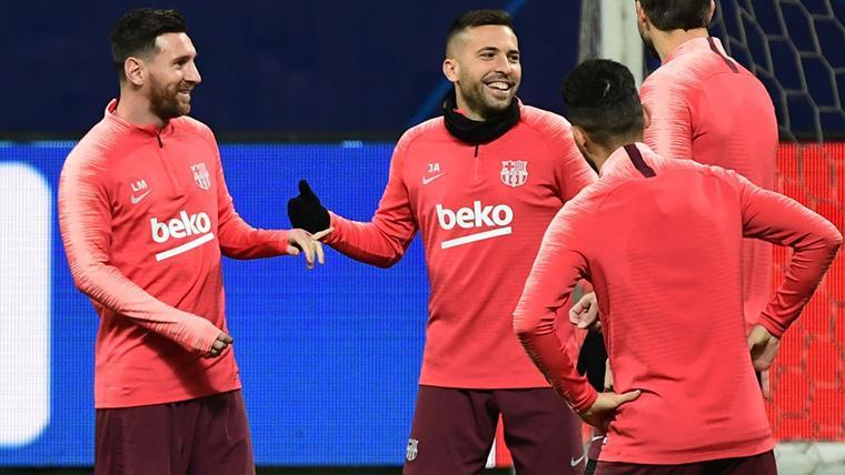 Primer contacto FC Barcelona-Jordi Alba para la renovación