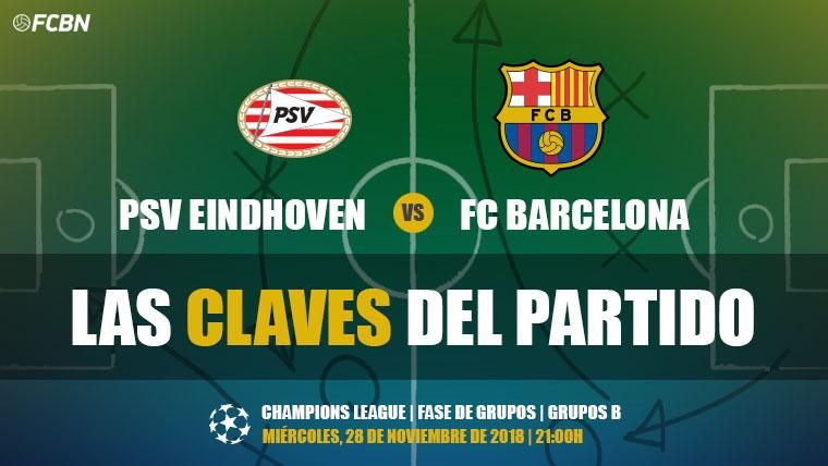 Las claves del PSV-FC Barcelona de Champions League 2018-19