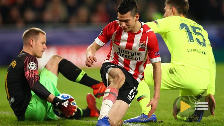 Vídeo resumen: PSV Eindhoven 1 FC Barcelona 2 (Champions J5)