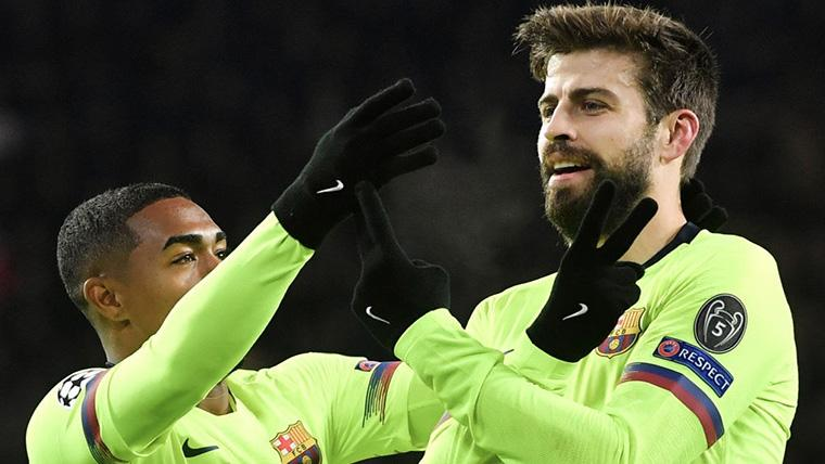 Piqué remató una falta de Messi para sentenciar el PSV-Barça