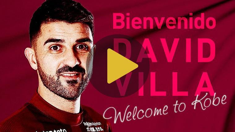 OFICIAL: David Villa ficha por el Vissel Kobe de Andrés Iniesta