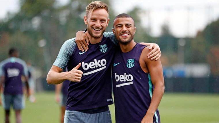 "El Barça animó a Rafinha con un mensaje en su camiseta: ""Muita Força Rafinha"""