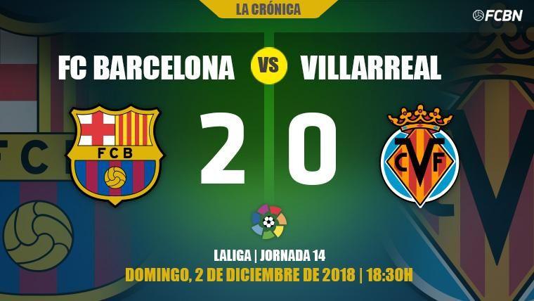El Barça refuerza su candidatura a LaLiga con una victoria muy seria frente al Villarreal (2-0)