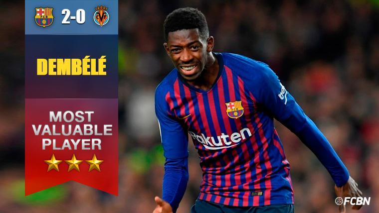 Ousmane Dembélé tira del carro, ¿en el mejor partido desde que está en el Barça?