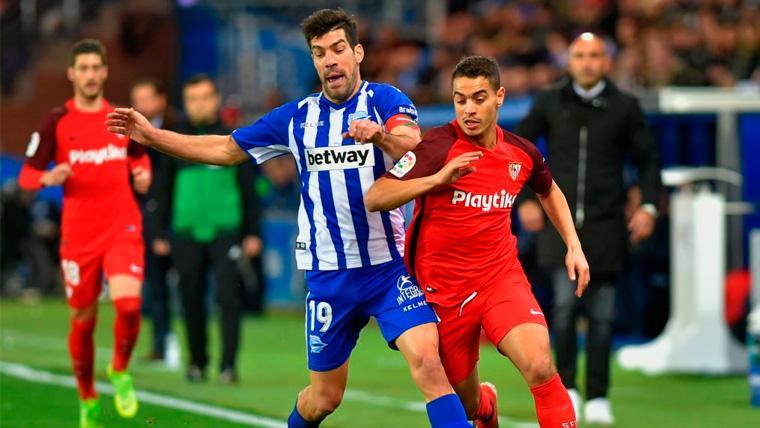 El Deportivo Alavés hace un favor al Barça y frena al Sevilla en Mendizorroza (1-1)