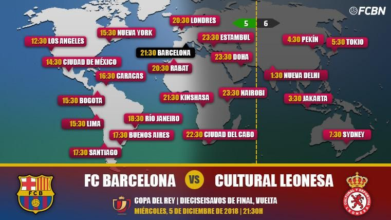 FC Barcelona vs Cultural Leonesa TV Online