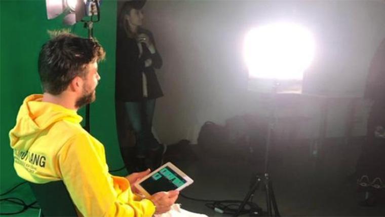 Gerard Piqué, colaborando en la iniciativa solidaria de Neymar Jr