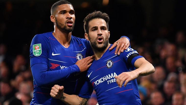 Cesc Fábregas, celebrando un gol marcado con el Chelsea