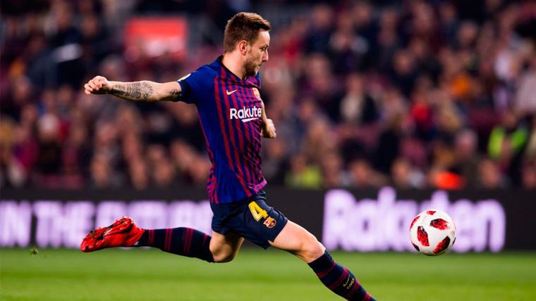 Ivan Rakitic en un partido del FC Barcelona
