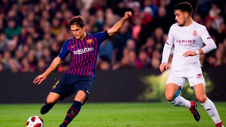 Denis Suárez en un partido del FC Barcelona