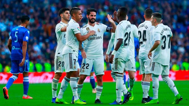 El Real Madrid se gusta contra el Melilla y se mete en octavos de la Copa del Rey (6-1)
