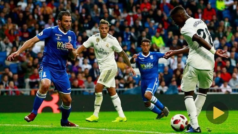 Vinicius Jr en un partido con el Real Madrid