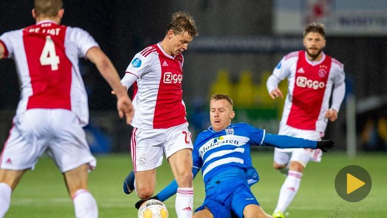 Golazo y mensaje de Frenkie de Jong en el último partido del Ajax
