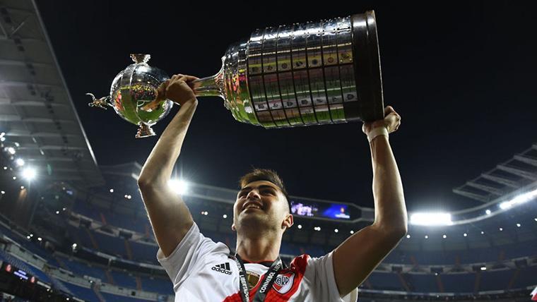 Pity Martínez se marcó un Cristiano tras sentenciar la final de la Libertadores