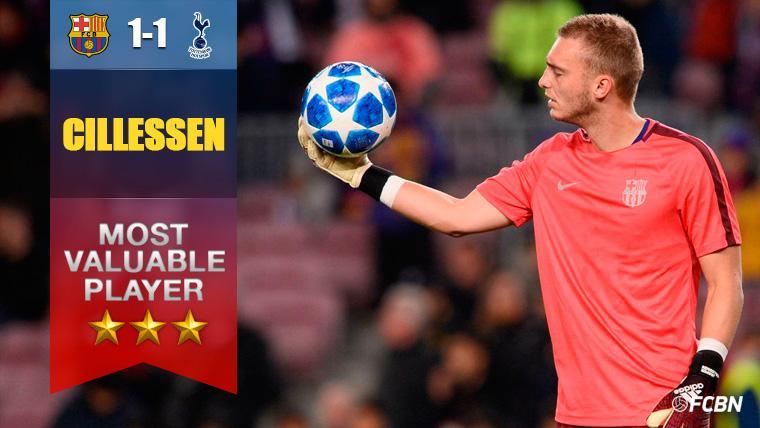 Cillessen demostró contra el Tottenham que es un portero de Champions