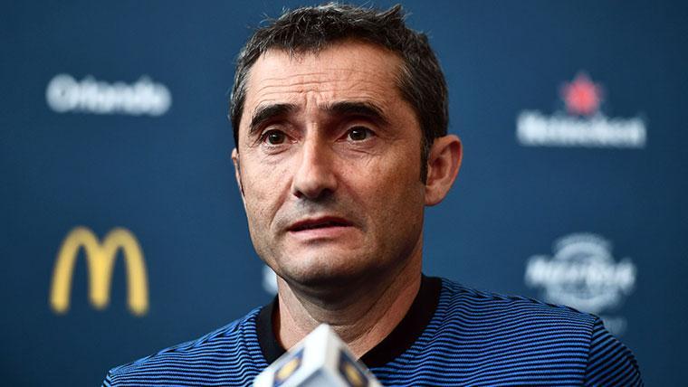 Valverde aplaude a los suplentes del Barça y envía un 'recado' a Dembélé