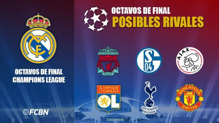 Los 6 posibles rivales del Real Madrid en octavos de Champions League 2018-19