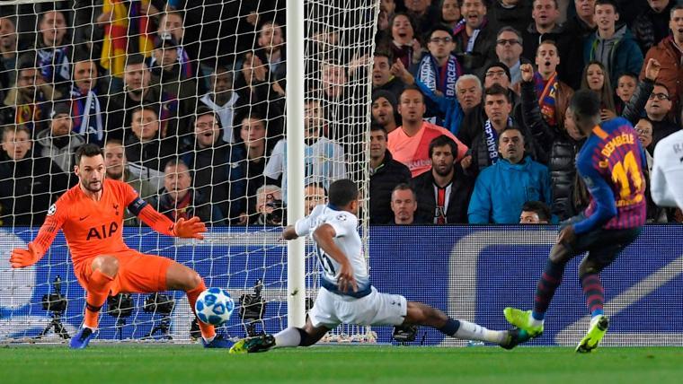 El golazo de Dembélé al Tottenham, nominado al Mejor de la Semana en Champions