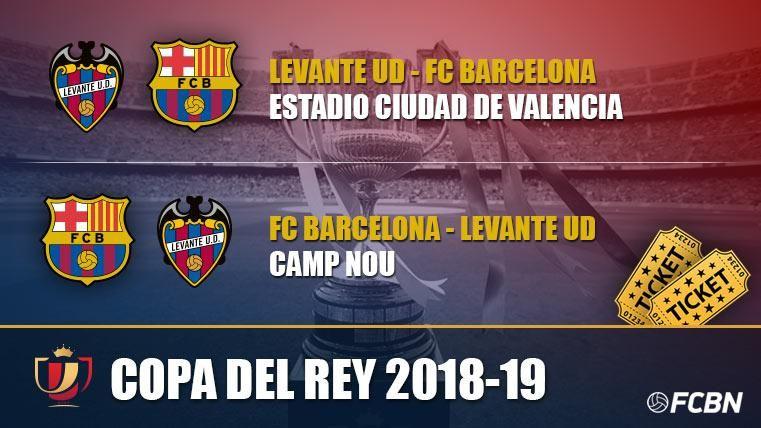 Entradas FC Barcelona vs Levante - Copa del Rey